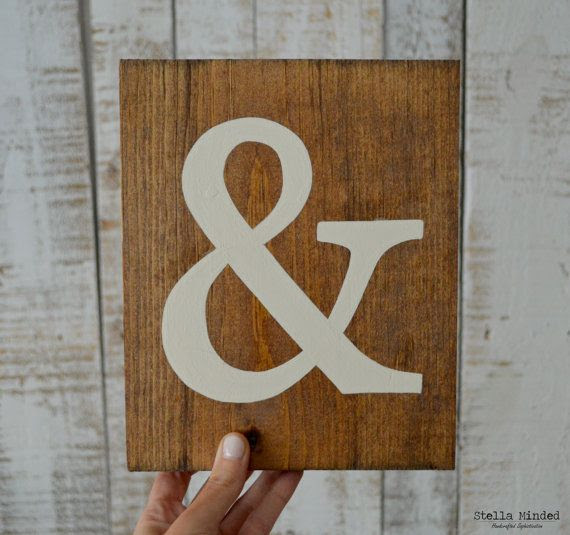 And  Rustic Mr  Wood Ampersand rustic Sign Painted Hand  Mr.  on  sign ampersand NEW! Sign  &