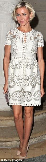 Cameron Diaz disse ter contactado sobre Victoria Beckham vestindo um de seus projetos para a cerimônia de premiação