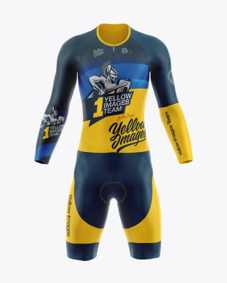 Download Cycling Speed Suit Front View Jersey Mockup PSD File 108 ...