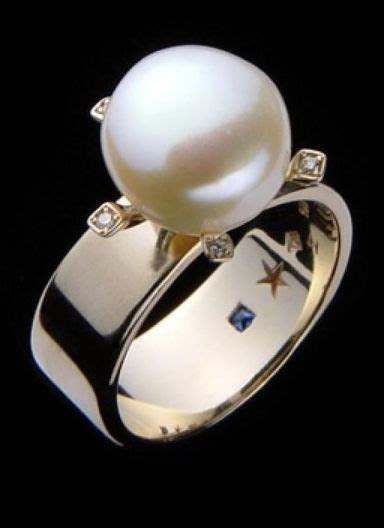 16 Pearl Wedding Rings   a Unique Collection   Pearls Only