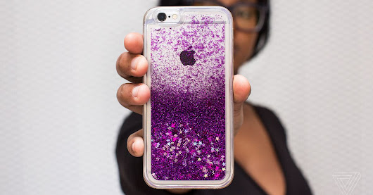 A glittery phone case is a solid choice if you want to look spunky and young