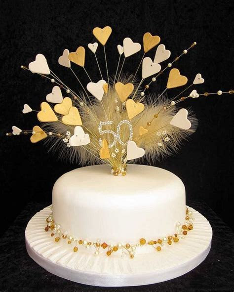 50th golden wedding anniversary cake topper   Flickr