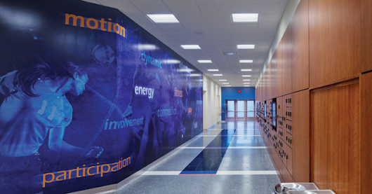 Locker Room Branding with Paint, Graphics - Athletic Business