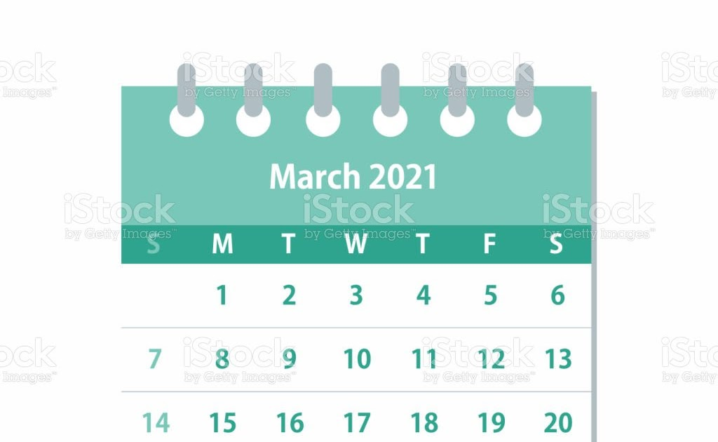 March 2021 Calendar Background | Printable March