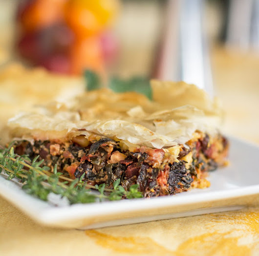 Swiss Chard Pie in Phyllo (Filo) Pastry - MJ's Kitchen