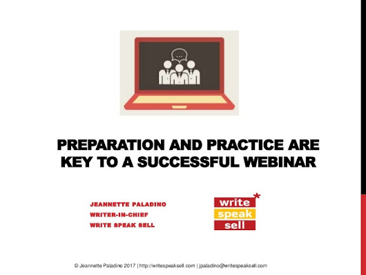 Preparation and Practice are Key to a Successful Webinar