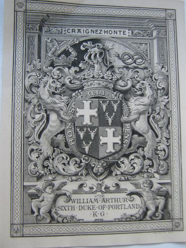 Bookplate - 6th Duke of Portland