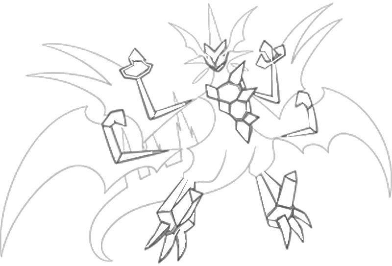 Coloring Page Pokémon Ultra Sun And Ultra Moon Ultra Necrozma 9