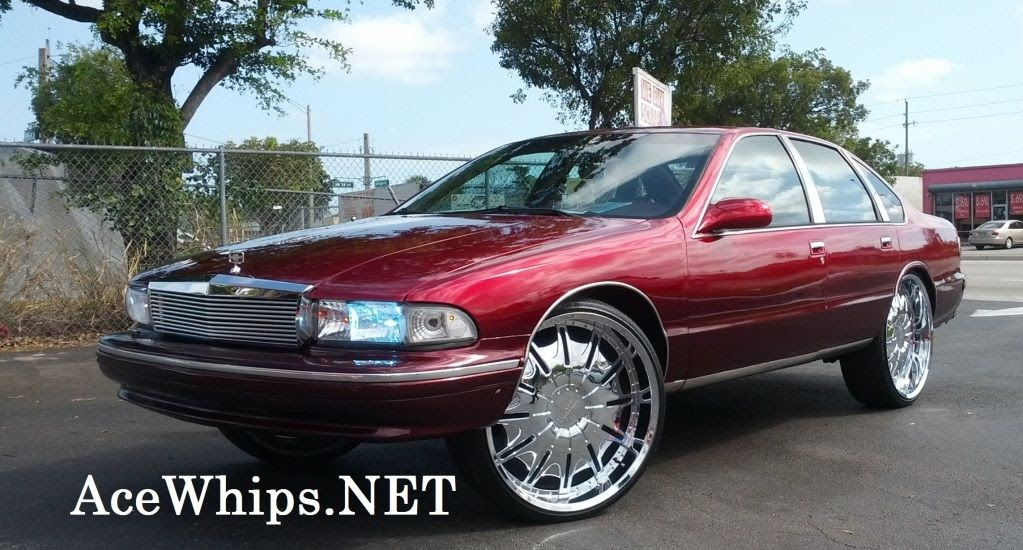Ace 1 On Sale Candy Red Chevy Caprice On 26 Quot Player Rims