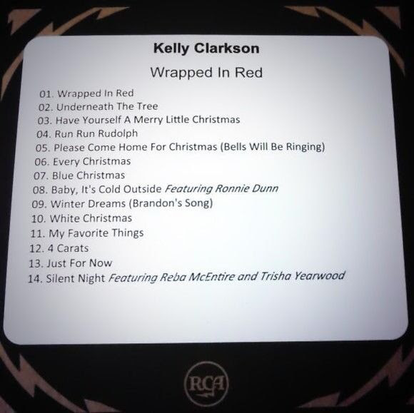 Kelly Clarkson : Wrapped In Red (Track List) photo kelly-clarkson-wrappedinred.jpg