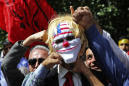 The Latest: Cypriots protest Israel's actions in Gaza