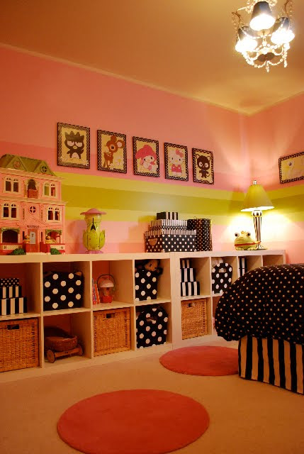 Girls Room: Stripes And Polka Dots - Design Dazzle