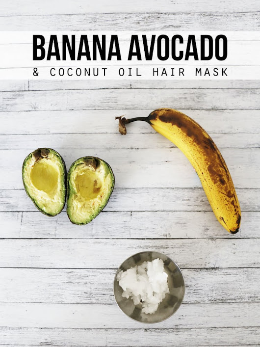 Banana Avocado and Coconut Oil Hair Mask - Hello Nature