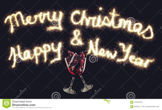 Greetings For Christmas And New Year Stock Photo - Image: 63440645