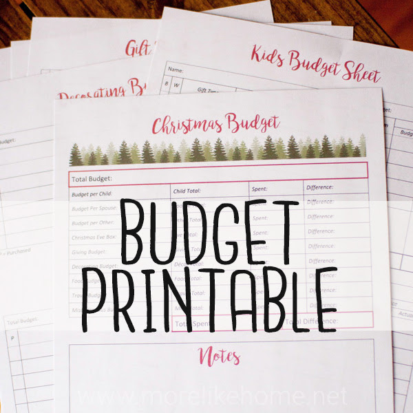 christmas budget free printable worksheet