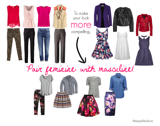 Pair Feminine with Masculine: How to wear more of your closet - The Joy of Style