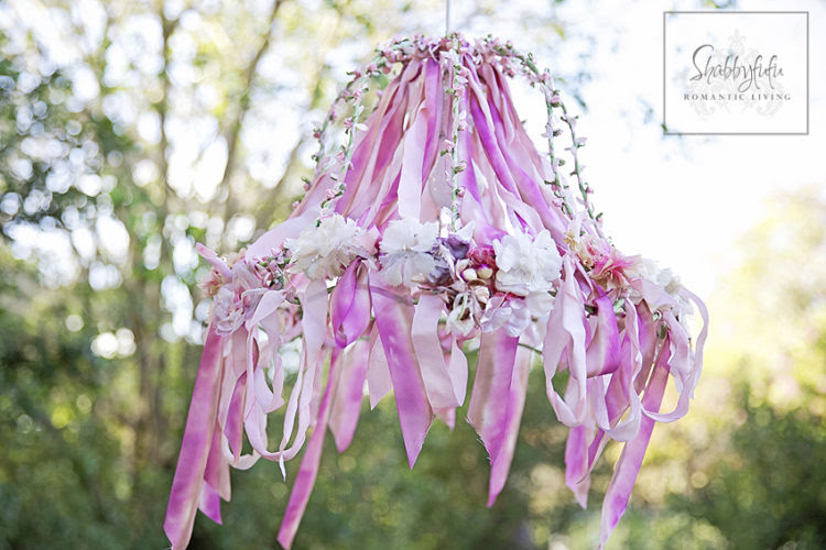 Ribbon Work Chandelier - Shabbyfufu - HMLP 89 - Feature