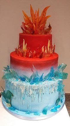Buttercream Cake Pulled Sugar Fire Poured Ice   The Day