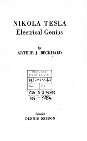 Download Books And Patents Of Nikola Tesla Free Download