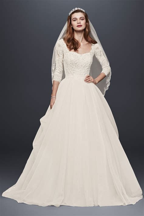 Classic 3/4 Sleeve Lace and Organza CWG731 Style Oleg