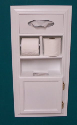 Mpu 1 Recessed Solid Wood Bathroom In The Wall Trash Can Toilet