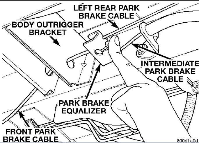 dodge parking brake cable
