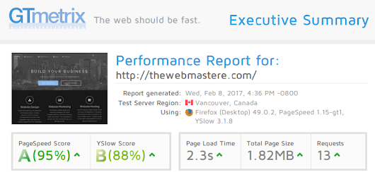 SEO and WebSite Design Performance Tuning