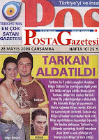 Newspaper Posta puts Tarkan on its front page