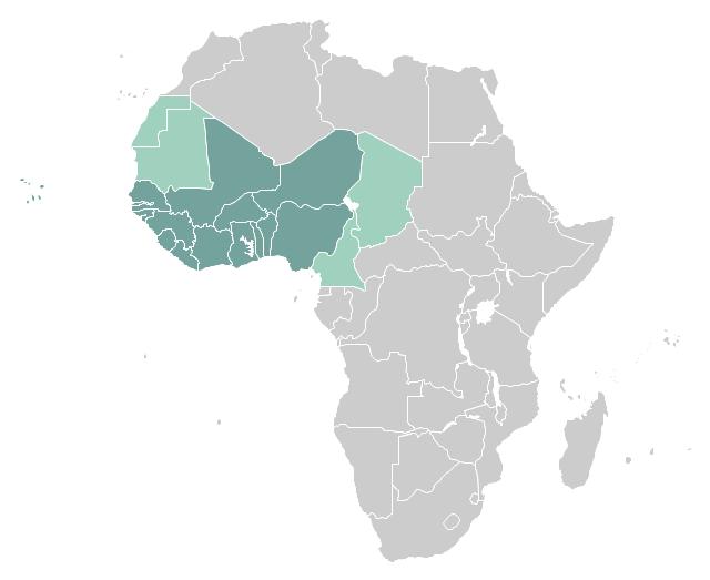 West Africa Countries West Africa Countries Map