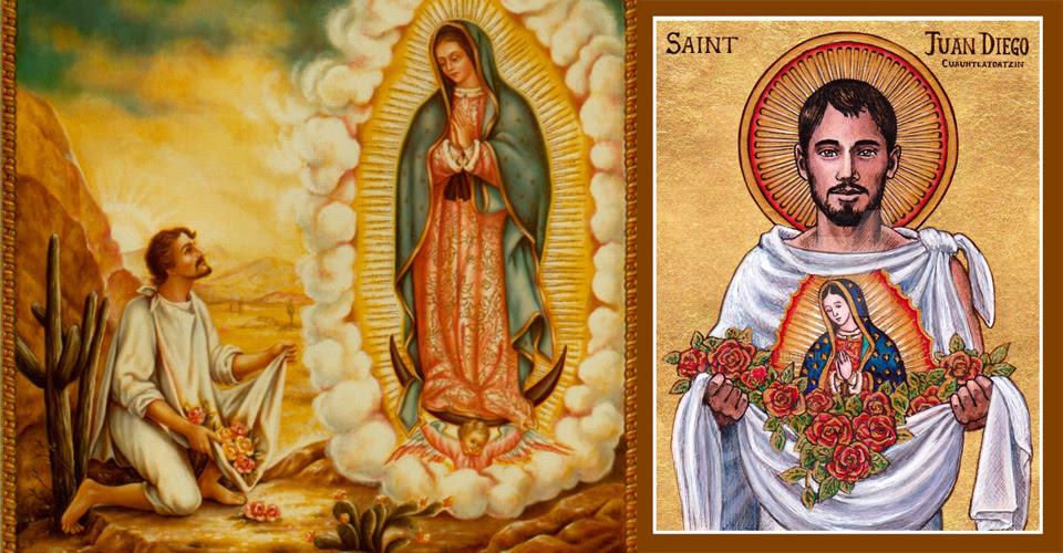 ... dia da primeira aparição, e louvou Santo João Diego pela sua simples fé  nutrida pelo catecismo, como um modelo de humildade para todos nós. 97e0815c80