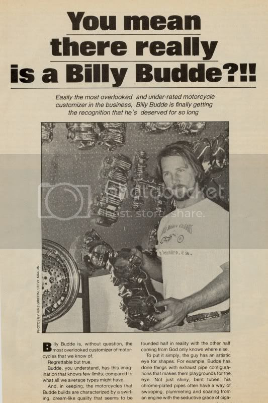 Almost Everything customer Billy Budde famed for his custom choppers & revolutionary motorcycle design
