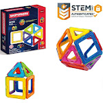 Magformers Basic Set (14-pieces) Magnetic Building Blocks, Educational Magnetic Tiles Kit , Magnetic Construction STEM Toy Set