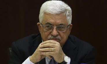 PA President Mahmoud Abbas at PLO meeting in West Bank, January 29, 2013.