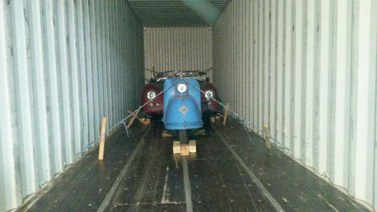 Container loaded to USA