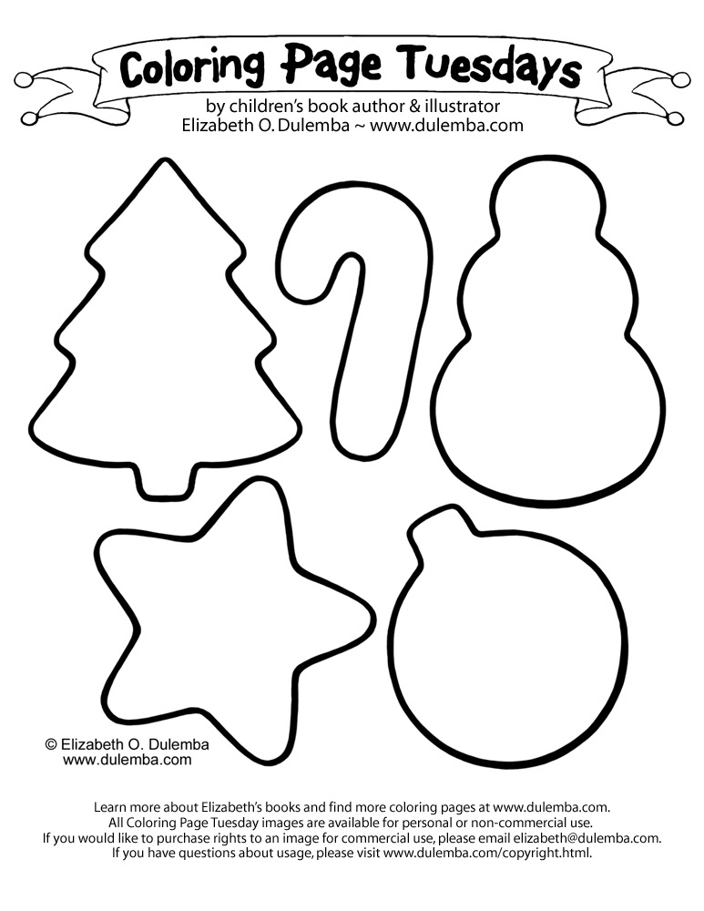 dulemba: Coloring Page Tuesday - Christmas Cookies