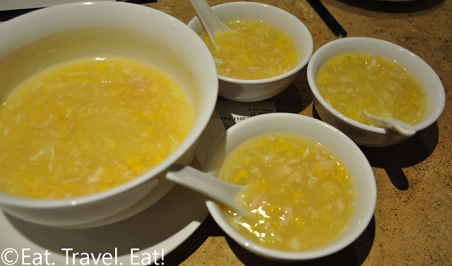 R&G Lounge- Chinatown, San Francisco, CA: Mashed Chicken and Sweet Corn Soup (Bowl)