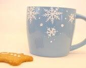 Snowflake coffee cup - Christmas gift range, UK seller - WhimsicalUK