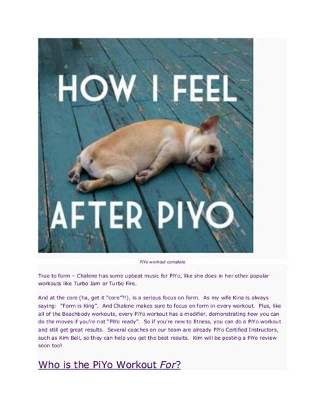 piyo workout review   piyo