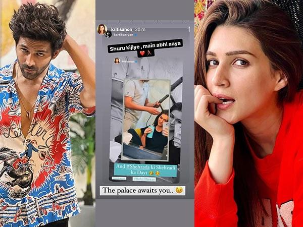 Kartik Aaryan and Kriti Sanon gear up for Shehzadaâs shoot