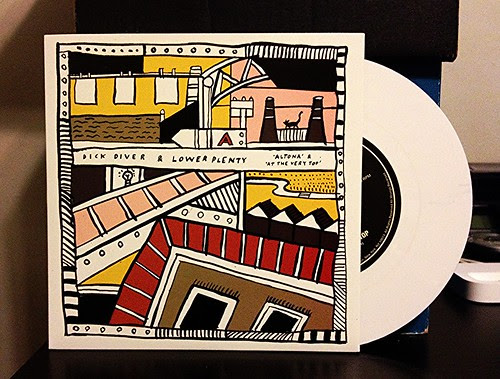 "Dick Diver / Lower Plenty - Split 7"" - White Vinyl by Tim PopKid"