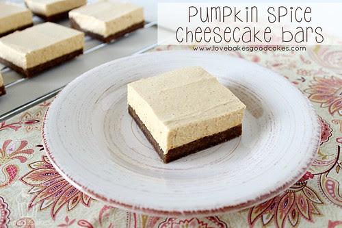 Pumpkin Spice Cheesecake Bars 1