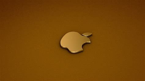Wallpaper apple, gold, logo, minimalism, Golden Apple logo.