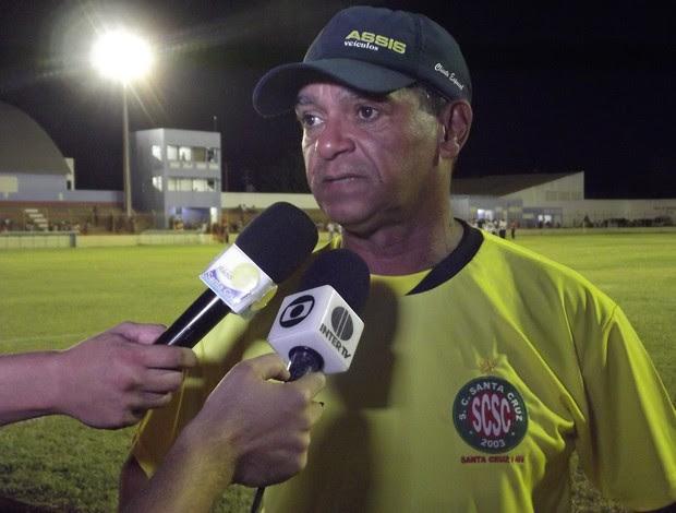 Wassil Mendes, técnico do Santa Cruz-RN (Foto: Tiago Menezes/GLOBOESPORTE.COM)