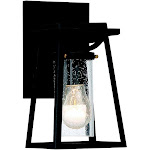 """The Great Outdoors Lanister Court 11"""" Outdoor Wall Light in Black with Gold"""