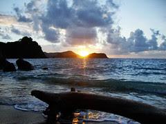 Sunrise over the Little Tobago
