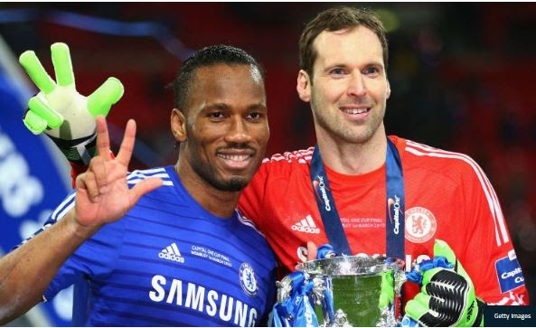 Awwww! Drogba Pays Tribute To His Retiring 'Hero' Petr Cech