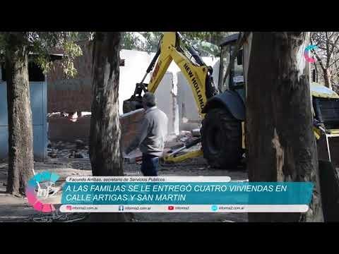 Demolieron cuatro casas del ingreso de VGG y apuntan a recuperar Espacios Públicos tomados