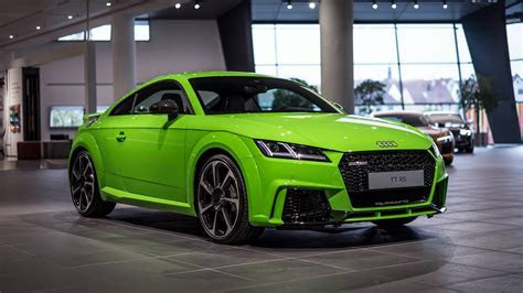 Lime Green Audi TT RS Looks Much Better Than Expected Carscoops.com