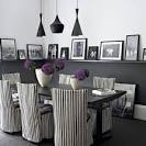 Modern Black And White Luxury Dining Room Ideas Black And White ...