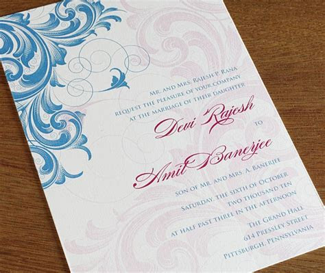 Letter Press Print Invitation Inserts   Buy G land Silk